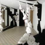 """Vue de l'exposition """"Travelling"""", entre-temps au Shaufenster, Sélestat, 18/02/2010 au 10/03/2010."""